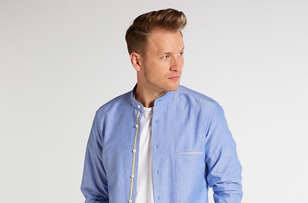 blaue Hemden von Eterna