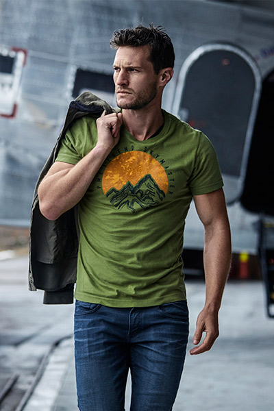 grüne Herren Shirts