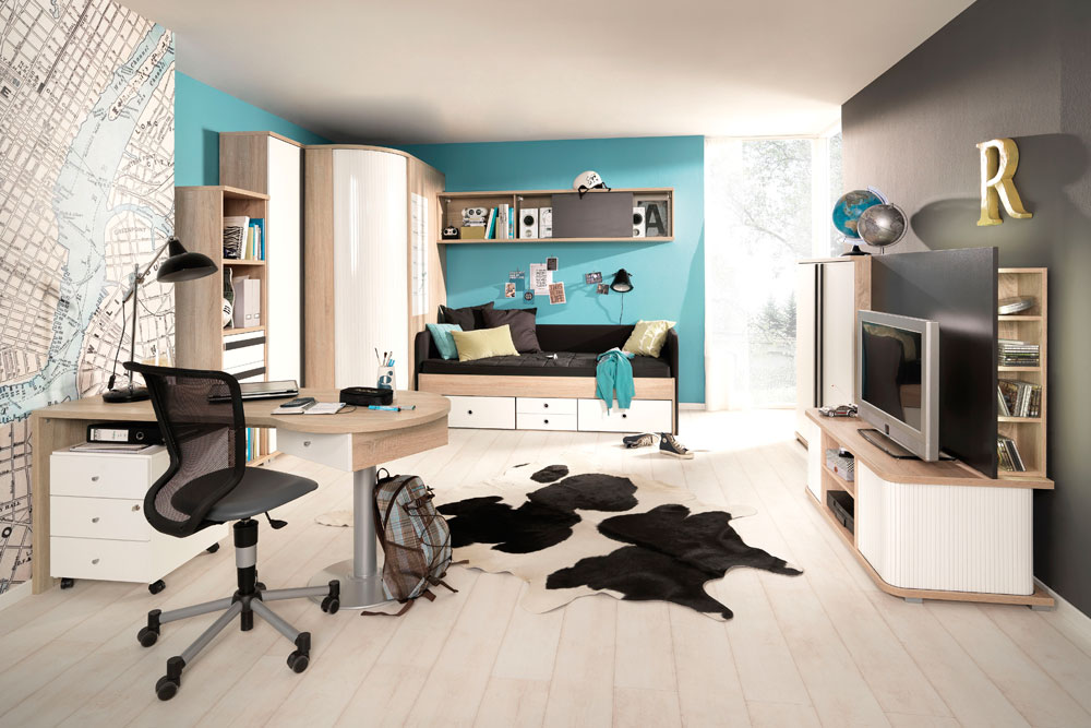 kinder jugendzimmer. Black Bedroom Furniture Sets. Home Design Ideas